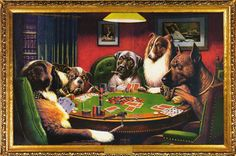 Dogs Playing Poker Bold Bluff Art Poster 24x36 – BananaRoad