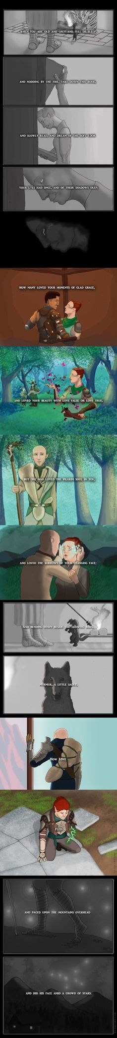 When You Are Old and Grey [Trespasser spoilers] by otterysoup Solas x Lavellan