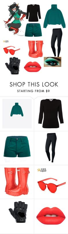 """""""Latula Pyrope"""" by heartbreakergamez on Polyvore featuring Balenciaga, Belford, NIKE, Hunter, FRACOMINA and Lime Crime"""