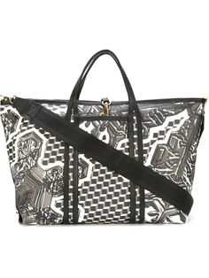 Pierre Hardy geometric print holdall bag