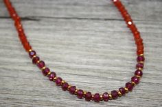 Carnelian and Pink Garnet Rhodolite Necklace with Gold Filled Accent Beads / AAA Quality Gemstones Beads by LaVieEnRoseJewelry on Etsy https://www.etsy.com/listing/275177494/carnelian-and-pink-garnet-rhodolite