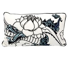 Cojín de sofá y cama TATOO JAPAN NEGRO