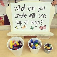 This is a good example of parts and wholes with an informal learning experience The teacher chose the activity, but does not have a specific object they were asked to build