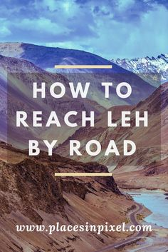 From any perspective, a Leh Ladakh road trip has epic written all over it. read this find out how to reach Leh by road from Srinagar and Manali. Travel List, Us Travel, Travel Guides, Places To Travel, Travel Destinations, Places To Visit, Travel Plan, Srinagar, Leh Ladakh