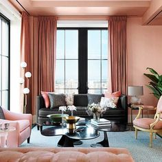 Perfect Black Furniture Grounds The Living Room And Lends An Extra Note Of  Sophistication In The Living Room Of A New York City Apartment Designed By  Jamie Drake. Great Ideas