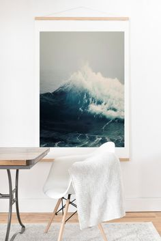 NEW! Oversized Art Prints from DENY. LOOOOVE.  Bree Madden Sea Wave Art Print And Hanger   DENY Designs Home Accessories