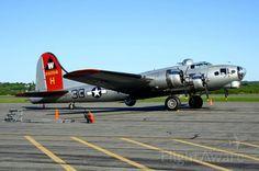 EAA, the Experimental Aircraft Association's B-17G Flying Fortress 'Aluminum Overcast'.