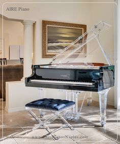 The black Aire baby grand is in a class of its own. Designed and built to satisfy the needs of designers and decorators for a few discerning clients, this acrylic beauty is now a top selling crystalline success story. Studio Desk Music, My Cinema Lightbox, Home Music, Piano For Sale, Piano Store, Baby Grand Pianos, Old Makeup, Piano Room, Piano Lessons