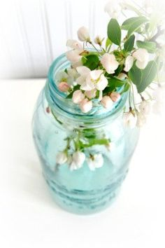 Vintage Aqua Blue Atlas Mason Jar.  southrosewindow  $21