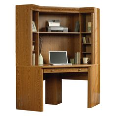 corner desk with hutch corner computer desk with hutch by sauder - Corner Computer Desks