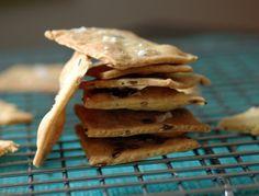 Crackers au curry, graines de lin et sel