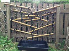 Bamboo waterwall