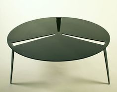 Op Het Park Coffee Table by Popalipana  (single sheet of steel with legs cut and bent from surface)