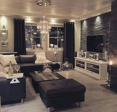 Want to Know More About Cozy Living Room Ideas? Every room needs a focal point and the bedroom is identical. Another way to create your living room more cozy is with a lovely fireplace. A minimal living room doesn't mean… Continue Reading → Cozy Living Rooms, Home Living Room, Apartment Living, Living Room Designs, Living Room Decor, Cozy Apartment, Stone Wall Living Room, Classy Living Room, Master Bedroom Interior