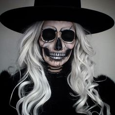 Ankou makeup costume death grim reaper skull skeleton Halloween ideas horror scary IG @Thetrashmask