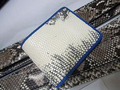Genuine Crocodile/Alligator Leather SKIN Bi-fold Wallet  Mix color vintage EX78 #ossora #Bifold
