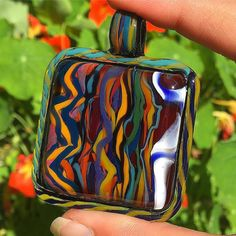 Coogi Textile AUCTION happening one post back>>>>head over to post your bids and see the other side of this double sided fully worked pendant.  #TripleAglass #glassofig #textile #aboriginalart #coogi #coogisweater #hiphop #highfashion #higherfashion #pendantsofig #pendant #glassart
