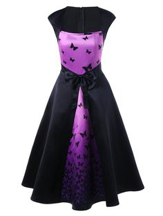 SHARE & Get it FREE | Bowknot Embellished Butterfly Print Tea Length Vintage DressFor Fashion Lovers only:80,000+ Items • New Arrivals Daily • Affordable Casual to Chic for Every Occasion Join Sammydress: Get YOUR $50 NOW!