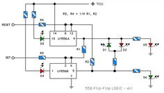 LM556 Flip-Flop Truth Table