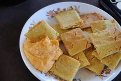 Cheezy Crackers #vegan (made with oats, chickpea flour and nutritional ...