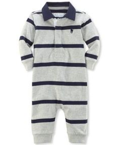 Ralph Lauren Baby Boys' Rugby Striped Coverall