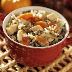 A Hearty and delicious recipe for chicken with wild rice and carrots, Great served with a salad.. Chicken With Wild Rice And Carrots Recipe from Grandmothers Kitchen.