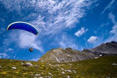 Paragliding in Anzere is quite fun Paragliding, Skiing, Mountains, Places, Water, Fun, Travel, Outdoor, Ski