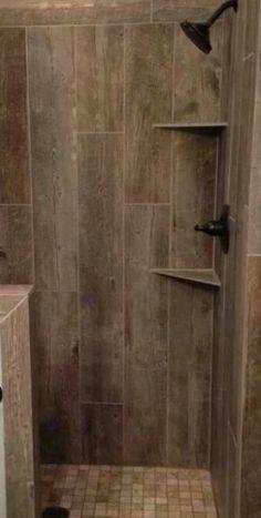 Ceramic Tile That Looks Like Barn Wood Cabin Bathrooms Primitive Rustic