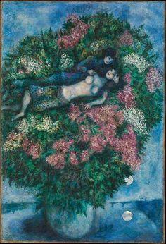 Marc Chagall, Εραστές σε πασχαλιές. 1930. Μητροπολιτικό Μουσείο Τέχνης. Ν. Υόρκη.