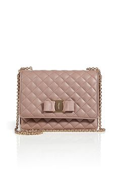 SALVATORE FERRAGAMO Quilted Leather Ginny Crossbody Bag in Nocturne Quilted  Leather d82e282ad6fa1