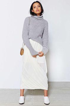 Kimchi Blue Twist Wrap Maxi Skirt - Urban Outfitters