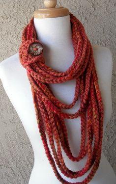 Yarn version of the tshirt scarf