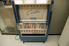 This candy machine rarely appears in the show but it's a favorite prop of Weiner's. All of the candies were created by the prop department to mimic how they looked at the time.