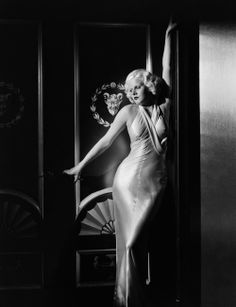 Jean Harlow in Adrian in 1933's DINNER AT EIGHT