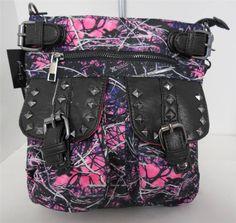 New Muddy Girl Camo Women's Crossbody Handbag Purse By Monte Vista #MonteVista #MessengerCrossBody