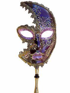 Venetian Mask | Manico Commedia Dell'Arte Italian Carnival Mask - Venetian Masks at Escapade™ UK - Escapade Fancy Dress on Twitter: @Escapade_UK