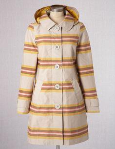 Rainy Day Mac, orange stripe | Boden