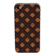 Checkered Wooden iPhone 4/4S Skin. It is very tempting to carry your iPhone sans case—it's easier to hold, smaller in your pocket. Unfortunately, it is also very dangerous. For such purists, there is Lazerwood. $20.00