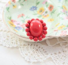 Ring made from vintage jewelry Adjustable beautiful by DotStitch, $18.50