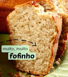 For sure, it is a mysterious food. Brazillian Food, Sweet Recipes, Cake Recipes, Bread Cake, Homemade Cakes, I Foods, Food Cakes, Love Food, Banana Bread