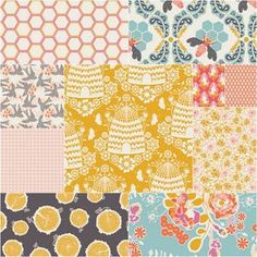 Sweet as Honey Fat Quarter Bundle in Spring Harvest - eeee!!!