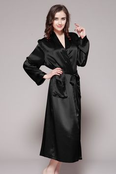 904591dd95 Online shop for black color 100 real quality personalized silk robes for  sale from us.