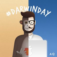 #darwinday #funnyillustrations #creativeagency #aquest