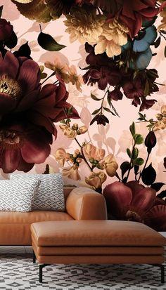 Gothic Bouquets Dark Floral Wallpaper Murals by Uta Naumann