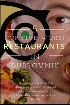 The top five WORST restaurants you chose in #Dubrovnik