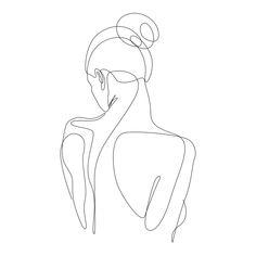 dissol one line art Mini Art Print by addillum Without Stand 3 x 4 - Minimalist Drawing, Minimalist Art, Drawing Sketches, Art Drawings, Single Line Drawing, Outline Art, Line Art Design, Abstract Line Art, Framed Art Prints
