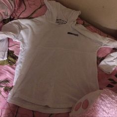 Go pink or go home Limited edition varsity crew. Thin crew material with no drawstrings or flaws. Too big for me ! :)  I am 5'2 PINK Victoria's Secret Tops Tunics