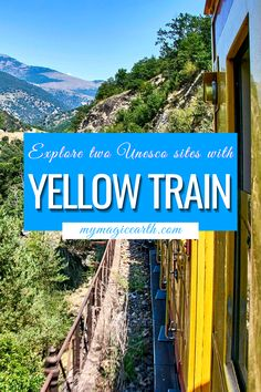 The Yellow Train Line is a 1,000 mm gauge railway that runs from Villefranche-de-Conflent to Latour-de-Carol-Enveitg in the French Pyrenees. | Things to do in the Pyrenees |Southwest France travel tips | France Travel Guide |Little Yellow Train | Family Activities in the Pyrenees | Villefranche-de-Conflent #法国 #France #hiking #familytravel #instagrammableplace # yellowtrain Europe Travel Tips, Travel Goals, European Travel, Travel Advice, Travel Guides, Travel Destinations, Thing 1, Visit France, Southern Europe