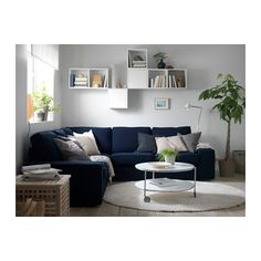 KIVIK Corner sofa 2+2 - Orrsta dark blue - IKEA - -Dark BLue $1100