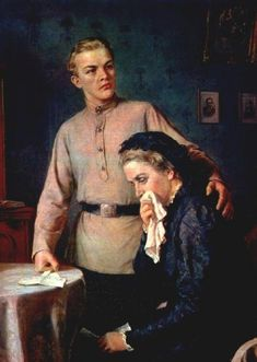 The young Lenin and his mother Soviet Art, Soviet Union, Vladimir Lenin, Stalinist, Back In The Ussr, The Bolsheviks, Socialist Realism, Thing 1, Socialism